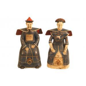 Statue Set von 2 Schubladen