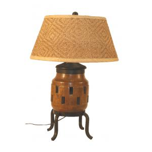 LAMP W/SHADE OLD AXLE