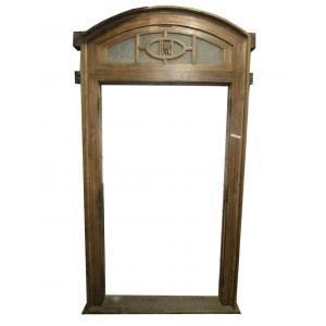 marco de la puerta de madera