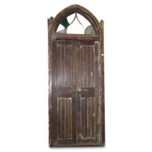 door in gothic style