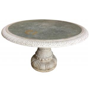 TABLE ROUND MARBLE GR TOP