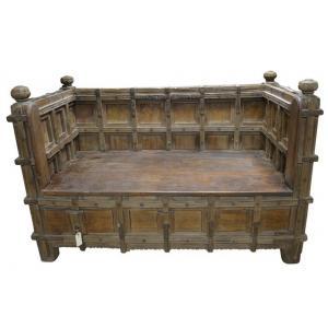 houten zitbank