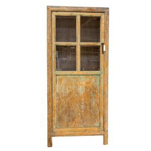 vitrinekast met 1 deur