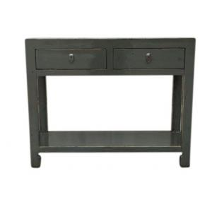 console with 2 drawers and shelf