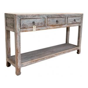 console 3 drawers with shelf